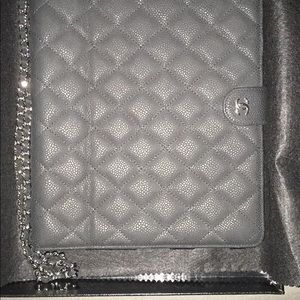 Chanel crossbody iPad case